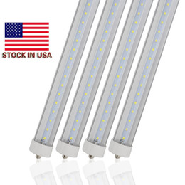 Discount led warm bulbs - LED T8 Bulb 45W FA8 Single Pin 8 Foot LED Tube Light 96'' 8' AC85-265V SMD2835 100LM W RoHS UL DLC