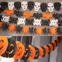 discount halloween paper garlands paper garland props 3m halloween dance party decor pumpkin witch spider bat - Discount Halloween Decor