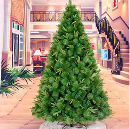 Discount superior plastics - 2.4m 240cm Superior High Quality Artificial Christmas Xmas Tree Upscale Mixed Pine Needles Mixing Trees For Home Hotel D