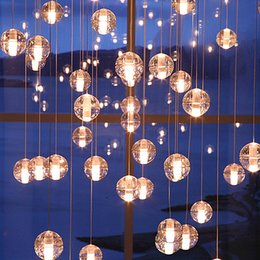 Discount Glass Ball Chandelier Led 2017 Glass Ball Chandelier