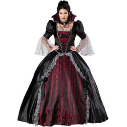 Female Vampire Halloween Costumes Canada - Queen Of The Vampires Costume Adult Women Halloween Party Costumes Sexy Vampires Cosplay Fantasy Dresses For Ladies