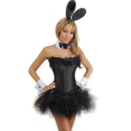 Lapin De Smoking Sexy Pas Cher-Vente en gros-5 PC sexy lapin lapin lapin femmes exotiques costume taille S-XXL