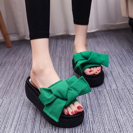 $enCountryForm.capitalKeyWord Australia - Fashion Bow Suede Upper Summer Shoes Wedges Women High Heel Platform Open Toe Sandal Shoes Lady Summer Wedge High Heel Sandals