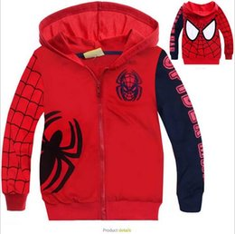 T-shirt Enfant Araignée Pas Cher-Vêtements d'homme Spider Homme au printemps automne enfants enfants garcons sous-vêtements sweat-shirt à capuche pour 2-7 T sweat-shirts à capuche