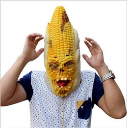$enCountryForm.capitalKeyWord NZ - Top Grade 100% Latex Full Face Scary Burn Corn Mask for Cosplay Latex Mask Horror Masquerade Adult Ghost Halloween Theater Props Party XMAS