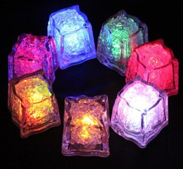 Wholesale LED Ice Cube Multi Color Changing Flash Lights Crystal Cubes for Party Wedding Event Bars Chirstmas Halloween Party Decorations