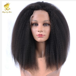 indian kinky straight full lace wig NZ - 150% Density Cheap glueless full lace human hair wigs kinky straight brazilian human front lace wigs with baby hair for black woman
