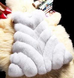 Fox Fur Pelts Canada - New Winter Genuine Fox Fur Vest Women's Full Pelt Gilet Warm Luxury Real Natural Fox Fur Waistcoat Pockets