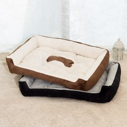 Venta al por mayor de 45x30 cm Algodón suave almohadilla estera del animal doméstico Impermeable cachorro gato cama para dormir perrera alfombra lavable felpa acogedora nido cómodo para mascotas suministros