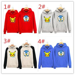 Pikachu Pullover Pas Cher-2016 nouvelle arrivée Poke Go Manteau Pikachu Hoodies Poche Pull Pull Poke Pull Sweat Cartoon Pullover Poke Sweatshirts A092948