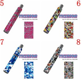 Wholesale Joyetech Ego Battery NZ - StickerBomb Skin Wraps Sticker for ego one 1100 2200 Vape Mod Protective Film Sticker Joyetech ego one 1100mAh 2200mAh Battery 16 styles DHL