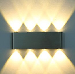 Hot Sale Led Wall Light 12w 1000lm Ac85 265v Modern Aluminum Lamp Wall Sconce Surfaced Mounted Light Fixtures Indoor Bathroom Free Shipping