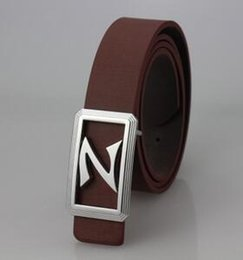 men belts wholesale Canada - Hot new smooth leather belt buckle leather belt Men Women belt letter belts Business