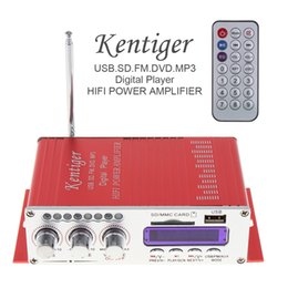 fi audio 2019 - HY-502 2CH HI-FI Digital Audio Player Car Amplifier FM Radio Stereo Player Support SD USB MP3 DVD Input CAU_10L cheap fi