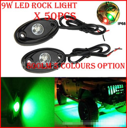 """Wholesale Trailer Lights Australia - 50PCS (25 Pairs) 3"""" 9W 3x3W Cre LED Rock Light Off-Road ATV 4x4 Truck Trailer Fender Rig Underbody Puddle Light 800lm White  Red  Blue  G Y"""