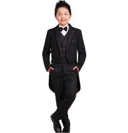 China Children's tuxedo wedding flower girl dresses piano boy tuxedo suit kids fashion boy suits for weddding(jacket+pants+vest) cheap girl wedding dresses jacket suppliers