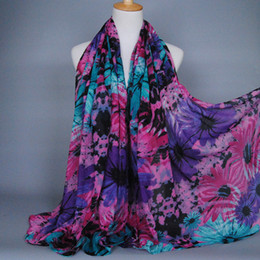 $enCountryForm.capitalKeyWord NZ - Wholesale-2015 New fashion sunflower printed 100% viscose multicolor cotton long shawls scarves muslim hijab winter wrap cape scarf