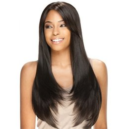 $enCountryForm.capitalKeyWord Canada - Full Of My Wig 150 % Density For The Human Hair Weaving Wig Brazil Black Women Senior Silk Long Straight Hair Full Lace Wig Is Full # 2