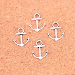 $enCountryForm.capitalKeyWord Australia - 188pcs Antique Silver Plated anchor sea Charms Pendants for European Bracelet Jewelry Making DIY Handmade 19*15mm