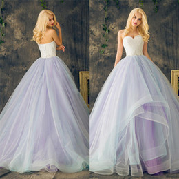 Wholesale ball skirts long plus size for sale - Group buy Sweetheart Lace up Ball Gowns Purple Plus Size Multi Color Layers Skirt Wedding Dresses Long Crystal Beading Lace Organza Bridal Dress