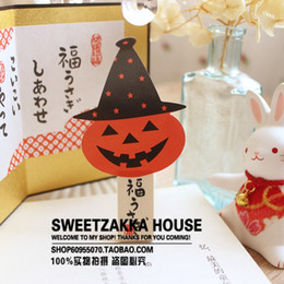 $enCountryForm.capitalKeyWord Canada - DIY Stickers Top Quality 150Pcs HandMade Halloween Pumpkin Shape Seal Sticker Baking Package Paper Tags Labels Stationery