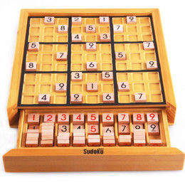 Discount educational board games - Beech Wood Adult Desktop Game Memory Chess Sudoku Puzzle Game Board Toys