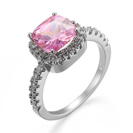 Rose Quartz Fashion Jewelry UK - fashion Jewelry silver daily wear Synthesis rose quartz finger ring for girl R0023