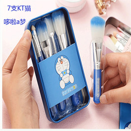 Le Meilleur Ensemble De Brosses De Maquillage Pas Cher-La meilleure qualité Le plus nouveau rose Hello Kitty Doraemon pinceaux de maquillage Set 7PCS Professional Cosmetics Mini maquillage Pinceaux kit pinceaux de maquillage