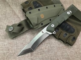 high end knives 2020 - High End Survival Straight Knife DC53 60HRC Tanto Satin Finish Blade Green G10 Handle Fixed Blade Knives with Kydex chea