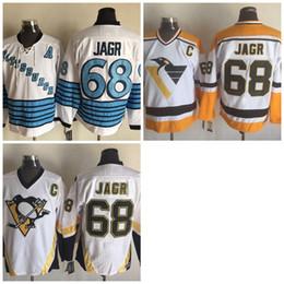 2016 pittsburgh penguins 68 jaromir jagr jerseys stitched hockey white blue jerseysmen throwback jersey size 40 56