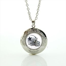 $enCountryForm.capitalKeyWord Canada - Valentine's day exquisite locket necklace Dallas Cowboys team Newest mix 32 sport team Souvenirs boy and girl jewelry gift NF143