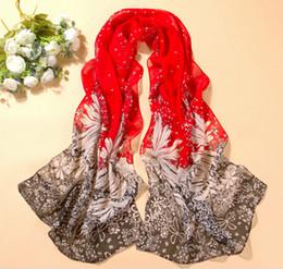 Summer Muffler Canada - 2016 new scarf summer pashmina women's scarf long shawl printed cape silk chiffon tippet muffler echarpes Scarves DHT155