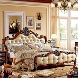 $enCountryForm.capitalKeyWord Canada - hot selling modern european solid wood bed Fashion Carved 1.8 m bed french bedroom furniture 85256