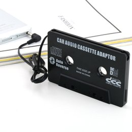 Iphone 4s Jack Plugs UK - Car Cassette Tape Adapter Converter 3.5mm Jack Plug Cassette Adapter for Radio MP3 iPhone 4 4S iPod Touch Nano CD MD Black