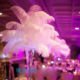 Decoration For Party Tables Canada - 12 colours DIY Ostrich Feathers Plume Centerpiece for Wedding Party Table Decoration Wedding Decorations many size 2016 hot selling