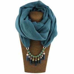 $enCountryForm.capitalKeyWord UK - Ethtic Silk Scarf Necklace Neckerchief Scarves Tassels Women Printed Silk Muffler Scarfs Choker Statement Jewelry Luxury Bijoux