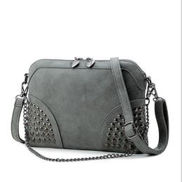 $enCountryForm.capitalKeyWord Canada - Rivet Women Handbag Punk Women Messenger Bags Large Capacity Women Bag Luxury Handbags Cross-Body Tote Bags PU Leather Bag Sac A Main bolsos
