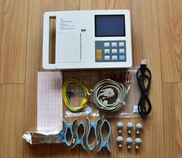 Toptan satış EKG çalışma istasyonu + üç kanal 5.7in ekg / EKG, Elektrokardiyograf, 3 Kanal EKG Taşınabilir LCD Dijital Elektrokardiyograf EKG Makinesi
