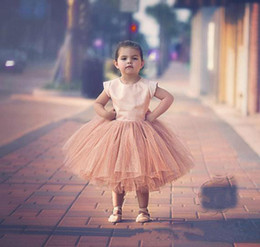 Little Girls Blue Clothing Canada - Cute 2017 Little Child Clothing Dresses For Birthday Party Wedding Tea Length Flower Girls Dresses Christmas Girl Gown Cheap