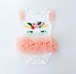 bodysuits princess Canada - 3pcs lot white 2016 Princess Newborn Baby Girl Clothes Girl sleeveless Tutu cotton Rompers dress Baby kid Clothing Infant Jumpsuit bodysuits