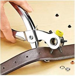 Vente en gros 1 ensembles / lot Roto Punch Perforation Trous Ajouter Oeillets de fixation cassé snaps trous de perforation Accueil pinces outil