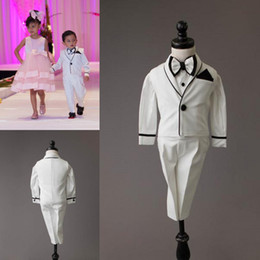 Three Piece Suit Bow Australia - Boys Suits For Weddings Size Three Piece Boy's Formal Suit Formal Party Bow Tie Kids Wedding Suits