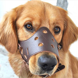 $enCountryForm.capitalKeyWord Australia - Pet Dog Adjustable prevention bite masks Anti Bark Bite Mesh Soft Mouth Muzzle Grooming Chew Stop For Small Large Dog Size XS-XXL