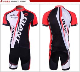 Discount bicycle for suits - Giant Team Cycling Jersey Sets for Men Ropa Ciclismo Breathable Summer Cycling Suit Bicycle Racing Clothing High Quality