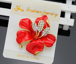 Flowers For Summer Planting Canada - Summer Fine and Fashion Jewelry Woman Dress Flowers Enamel Brooch for Women Wedding Brooches Pins Free shipping