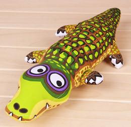 Pet Toys Canvas NZ - Canvas Crocodile Pet Toys Fat Cat Pet Anger Let Off Toys PP Cotton Filling Toys Dog Chews Toys