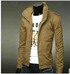 Barato Casacos Coreanos Vender-Hot Sell Korean Spring and autumn man's slim fit jacket casual wear coat 7colors