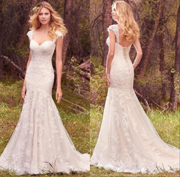 Fabulous 2018 Lace Appliques Mermaid Wedding Dresses Sleevesless Sweetheart Up Back Country Floor Length Bridal Gowns