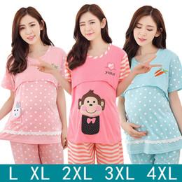 online shopping confinement serve short sleeve pure cotton suit postpartum nurse lactation clothes pregnant woman pajamas