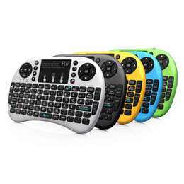 GaminG android box online shopping - Wireless QWERTY Gaming Keyboard Touchpad Rii i8 Mini Fly Air Mouse Keyboard Remote Control for PC Android Tv Box X360 PS3